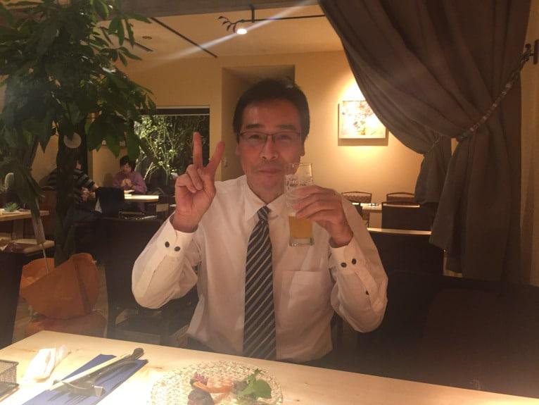福島市のアクアディマーレの新店舗で乾杯!