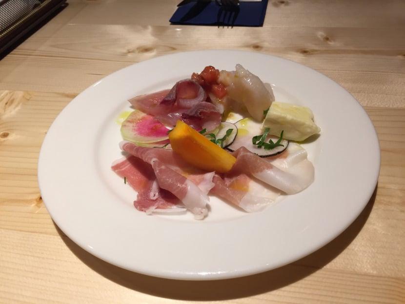 福島市のアクアディマーレでの前菜